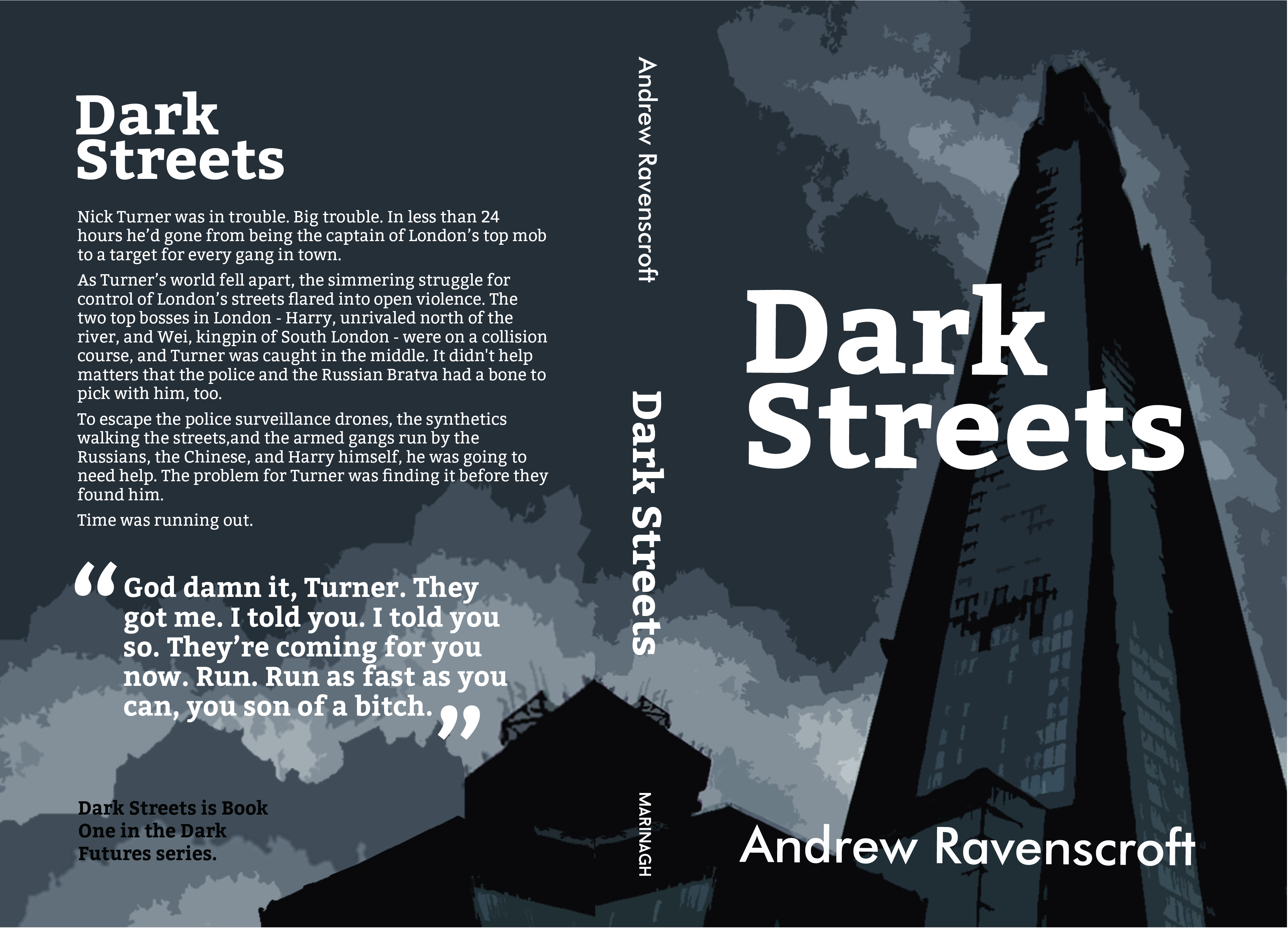 Dark Streets cover design and photograph © Mary Musker 2014.